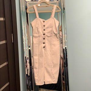 Zara white mid length dress